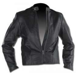 CUSTOM LEATHER JACKET LADY Fitted CHROME