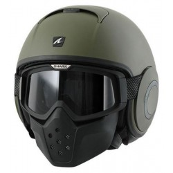 CASCO JET SHARK RAW VERDE MATE