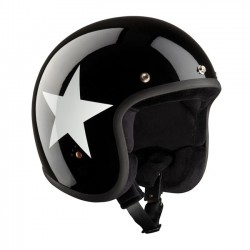 CASCO BANDIT JET STAR BLACK/WHITE ECE