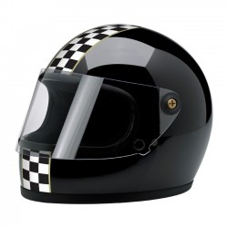 CASCO INTEGRAL BILTWELL GRINGO S LE CHECKER GLOSS BLACK