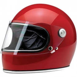 BILTWELL GRINGO S FULL FACE HELMET BLOOD RED