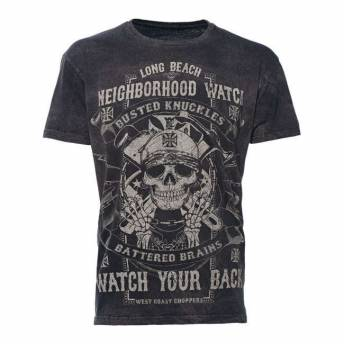 CAMISETA WEST COAST CHOPPERS NEIGHBORHOOD WATCH NEGRA