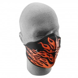 NEOPRENE MASK ORANGE FLAMES