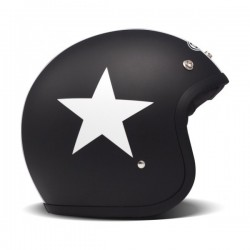 DMD HELMET JET BLACK STAR