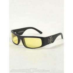 WEST COAST CROSS GLASSES YELLOW Chopers