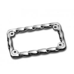 "TWISTED plate holder chrome frame 7 ""X4"""