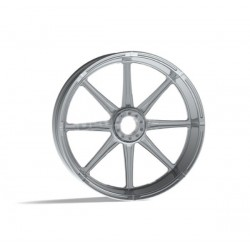 "SOLID CHROME WHEEL REVTECH VELOCITY 21 ""x 3.50"""