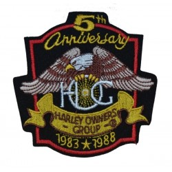 5TH ANNIVERSARY PATCH HOG 10 x 10.5 cm