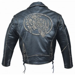 ALEX ORIGINALS EMBOSSING LEATHER JACKET