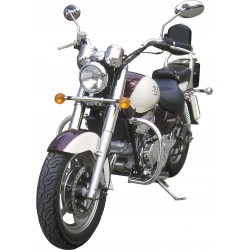 BLACK 30MM MOTOR DEFENSE HYOSUNG AQUILA GV 125 TO 2006