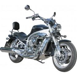 BLACK 30MM MOTOR DEFENSE HYOSUNG AQUILA GV650 - GV650i