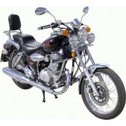 BLACK 25MM MOTOR DEFENSE KYMCO KYMCO 125 ZING II