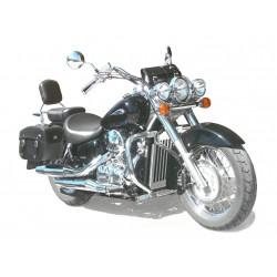 SOPORTE FAROS AUXILIARES YAMAHA XVS-A 650/400 CLASSIC