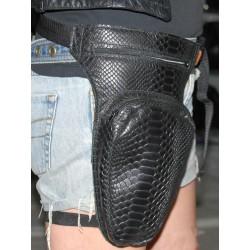 LEG BAG BLACK SNAKE SKIN REVOLVER