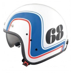 RETRO HIGHWAY 68 JET HELMET WHITE (OUTLET)