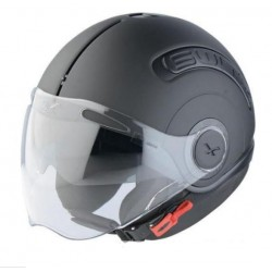 JET HELMET MATT BLACK NEXX SWITX