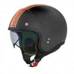 JET HELMET NOLAN N21 ORANGE MATT BANNER