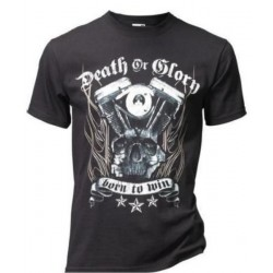 CAMISETA DEATH OR GLORY NEGRA
