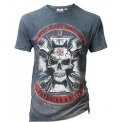 West Coast Choppers T-SHIRT BLUE VINTAGE