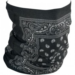 BRAGA MULTIFUNCIONAL FLEECE BLACK PAISLEY