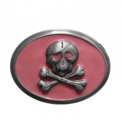 PINK PIRATE SKIN BELT BUCKLE (OUTLET)