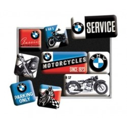 SET OF 9 MAGNETS BMW MOTORCYCLE