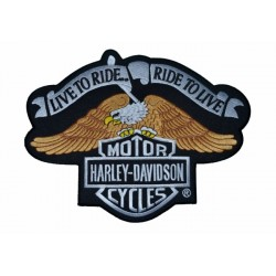 HARLEY DAVIDSON LIVE TO RIDE RIDE TO LIVE 28 X 21.5 CM