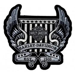 PARCHE HARLEY DAVIDSON WINGS EST 1903 23 X 23 CM