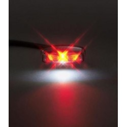 BLACK LED REAR PILOT WITH MATRICULA SUPPORT
