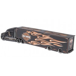 MINIATURE HOT ROT 1929 FORD HARLEY DAVIDSON FLAMES1:24