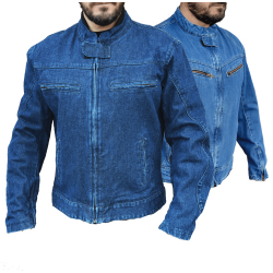 DENIM JACKET WITH PROTECTION (OUTLET)