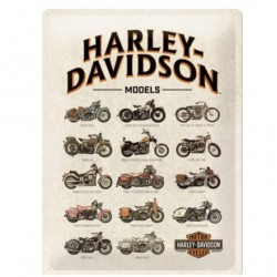 METAL SIGN HARLEY DAVIDSON MODELS