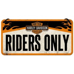 METAL SIGN HARLEY DAVIDSON RIDERS ONLY