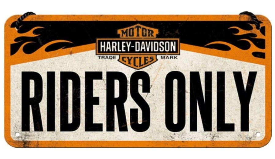 METAL SIGN HARLEY DAVIDSON RIDERS ONLY - SpacioBiker