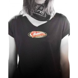 CAMISETA INDIAN MOTORCYCLE MUJER BLACK CLASSIC (OUTLET)