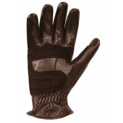 GLOVES LEATHER BROWN TRACKER