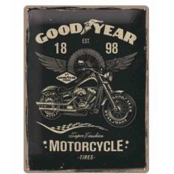 PLACA GARAJE GOODYEAR MOTORCYCLES