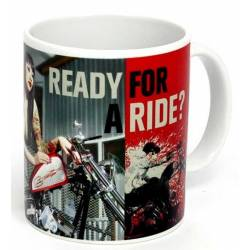 TAZA CERAMICA WCC READY FOR A RIDE MUG BLANCA