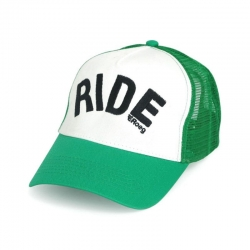 ROEG HAT AND WHITE RIDE GREEN