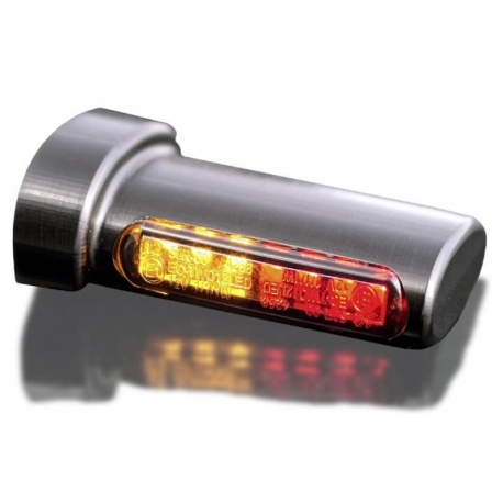 LED luz trasera luz de freno intermitente cromo moto custom universal para Harley Davi