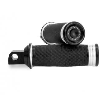Performance Machine PM Billet 49mm Black Contrast Fork Brace for Harley Dyna FXD