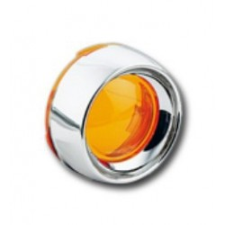 FLASHING AMBER LENS WITH CHROME EDGE HARLEY DAVIDSON 00-UP (OUTLET)