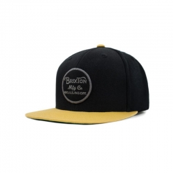 BLACK / YELLOW BRIXTON WHEELER CAP