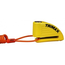 TRIMAX DISK LOCK WITH ALARM YELLOW