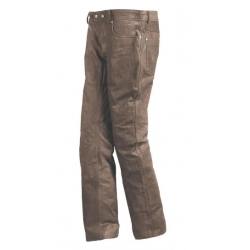 KANSAS BROWN LEATHER PANTS
