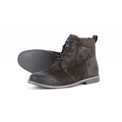 BOOTS OVERLAP SUEDE DARK BROWN
