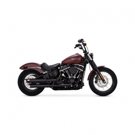 "TAIL ESCAPE TWIN SLASH BLACK 3 ""18-UP HARLEY SOFTAILS"