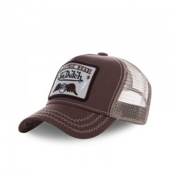 GORRA VON DUTCH SQUARE TRUCKER MARRON