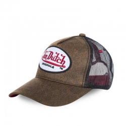 CAP VON DUTCH OG TRUCKER BROWN AND BLACK