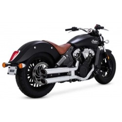 "MUFFLERS BASSANI 3"" CLASSIC BLACK INDIAN SCOUT 15-16"